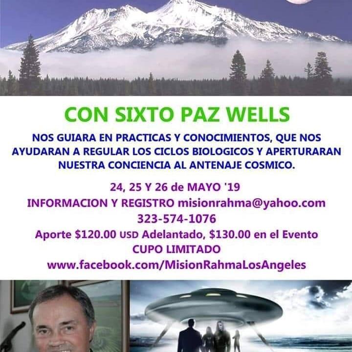 Próximas actividades Mayo a Noviembre 2019