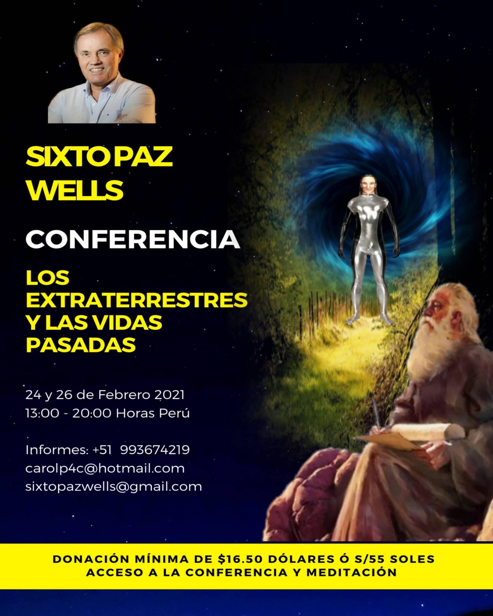 CONFERENCIA – «LOS EXTRATERRESTRES Y LAS VIDAS PASADAS»