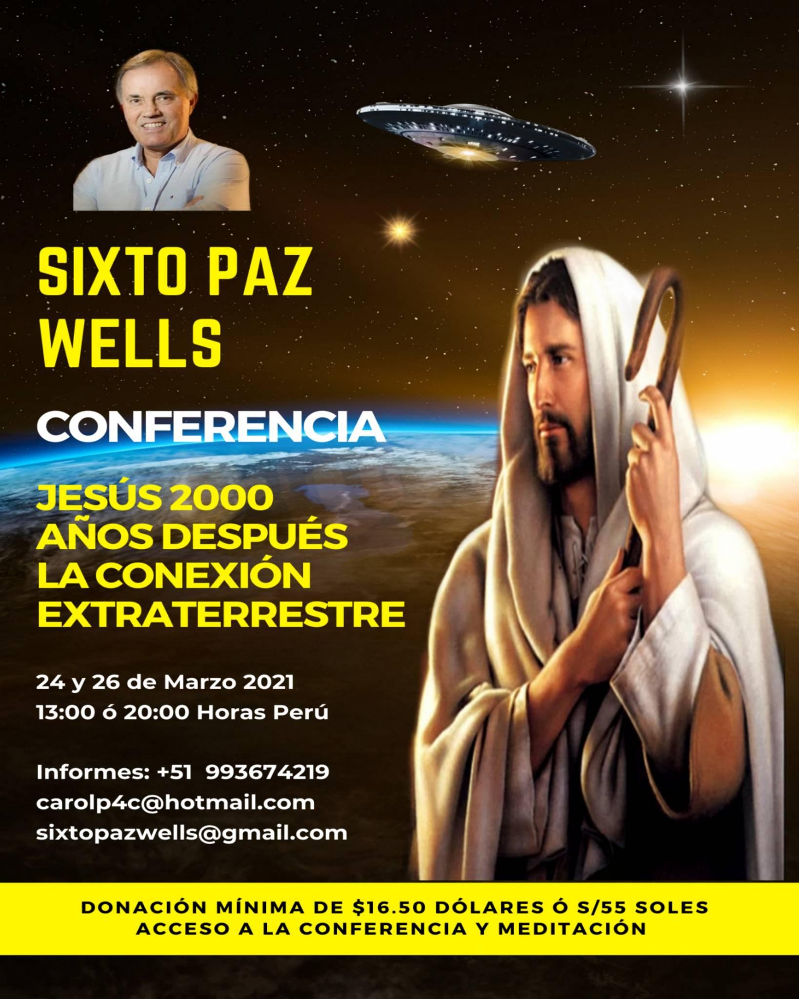 CONFERENCIA  «JESÚS 2000 AÑOS DESPUÉS LA CONEXIÓN EXTRATERRESTRE»