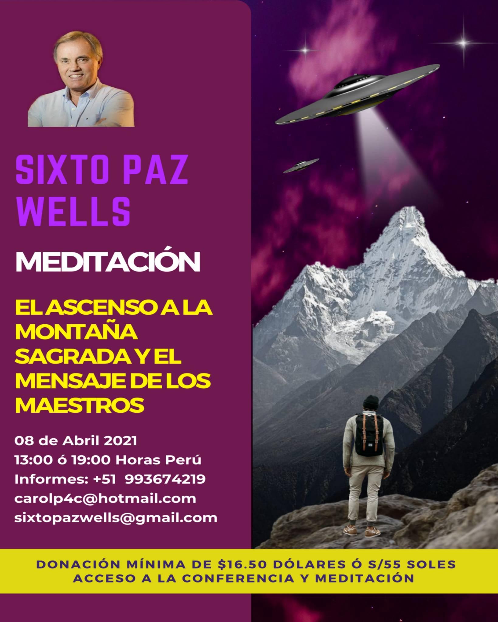 MEDITACIÓN  «EL ASCENSO A LA MONTAÑA SAGRADA Y EL MENSAJE DE LOS MAESTROS»