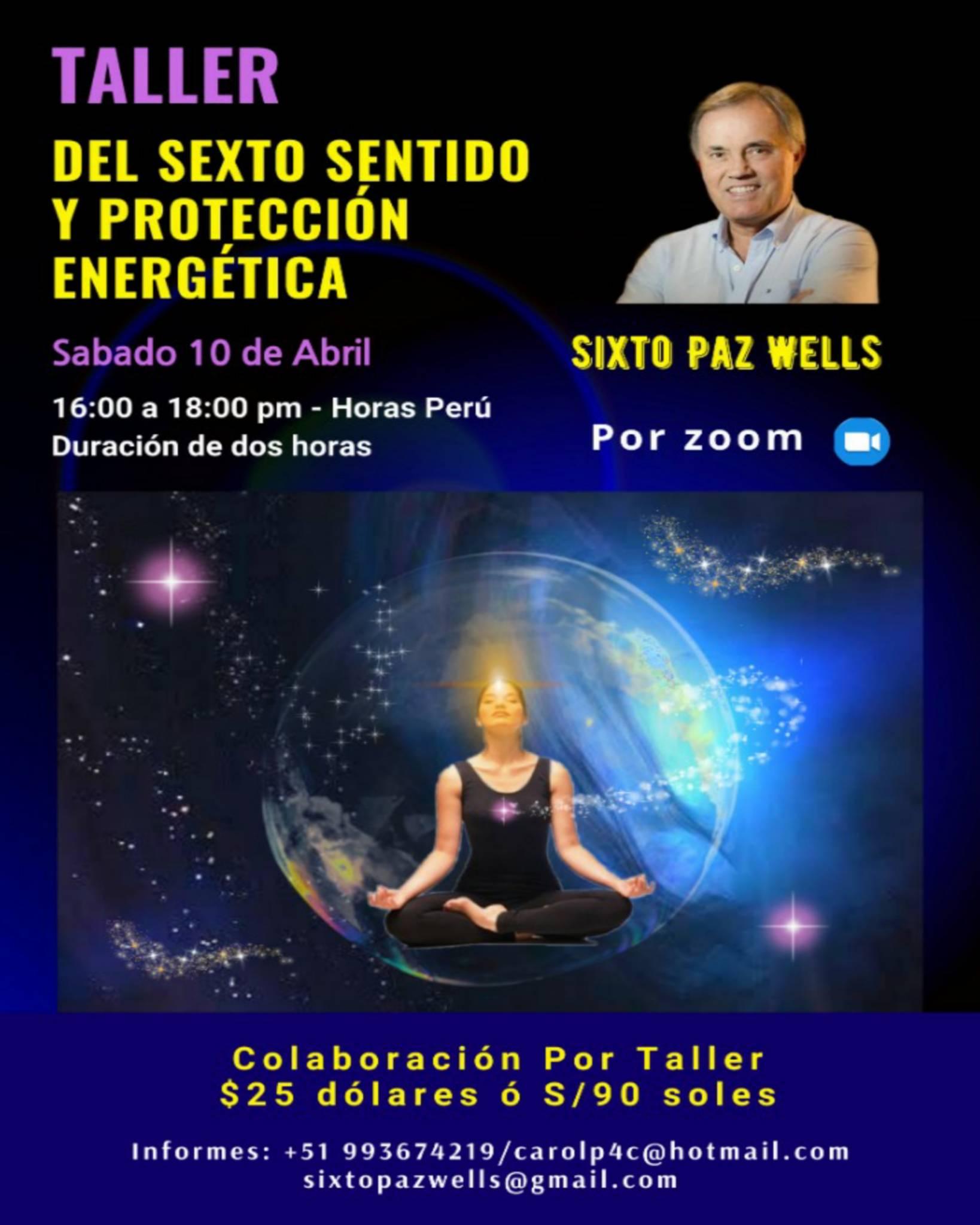 «TALLER DEL SEXTO SENTIDO Y PROTECCIÓN ENERGÉTICA»