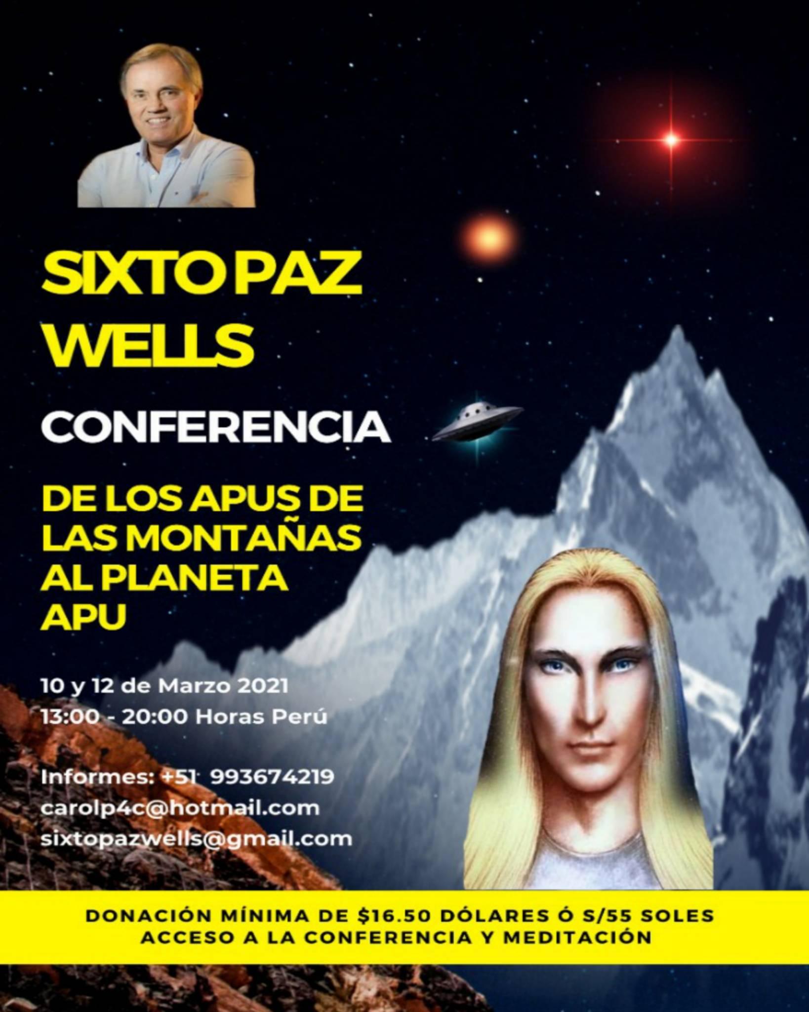 CONFERENCIA  «DE LOS APUS DE LA MONTAÑA, AL PLANETA APU»