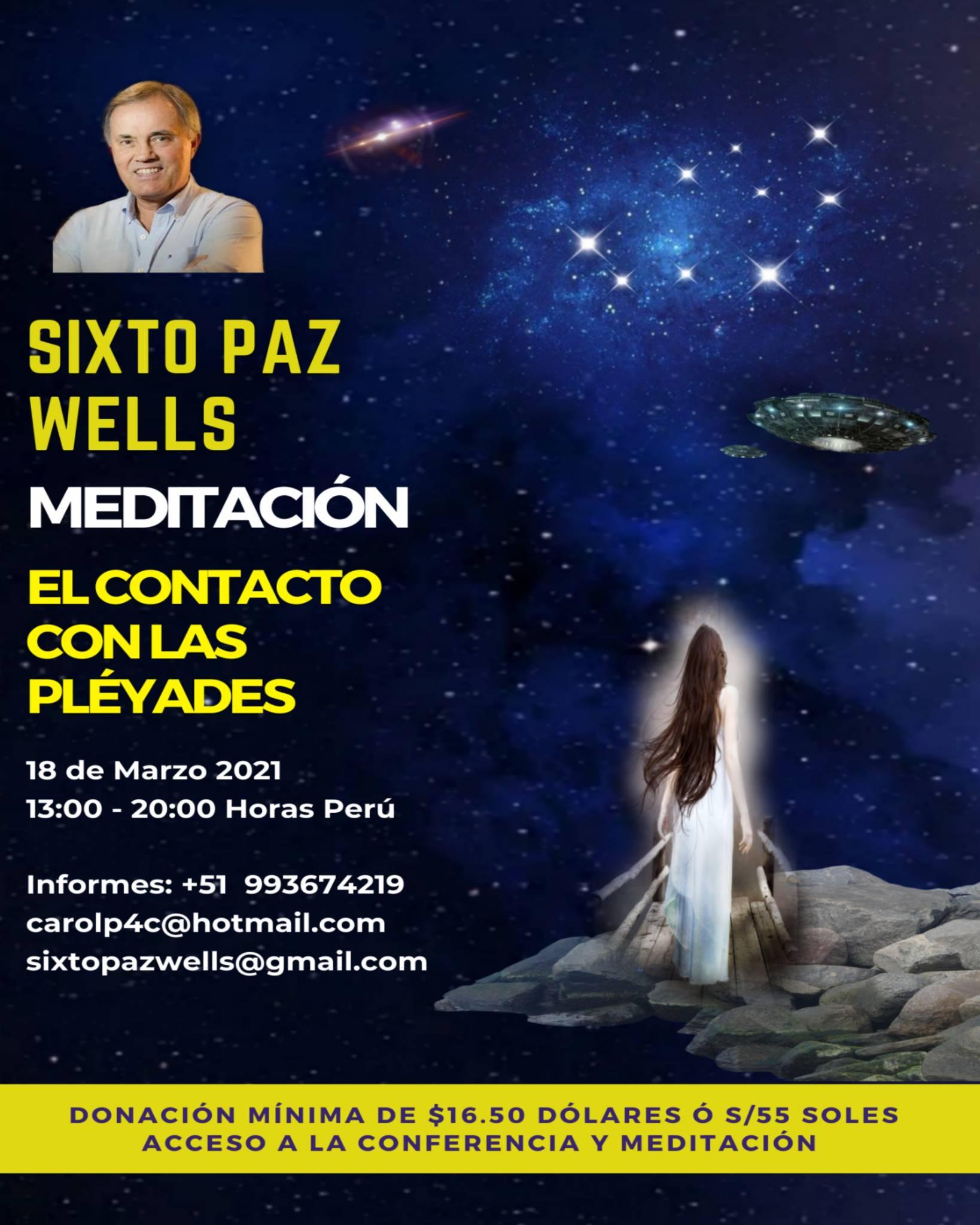 MEDITACIÓN EN VIVO  «EL CONTACTO CON LAS PLÉYADES»