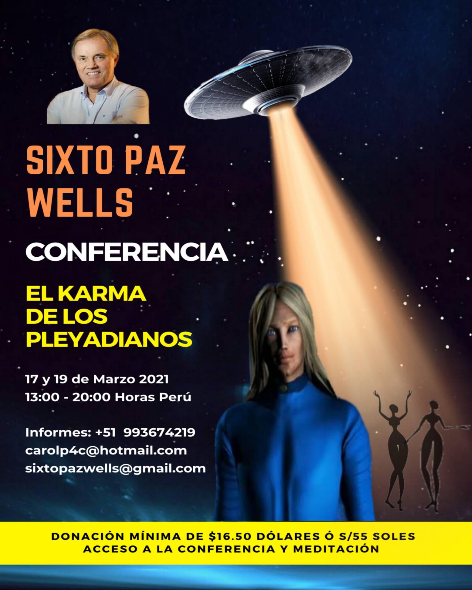 CONFERENCIA EN VIVO «EL KARMA DE LOS PLEYADIANOS»