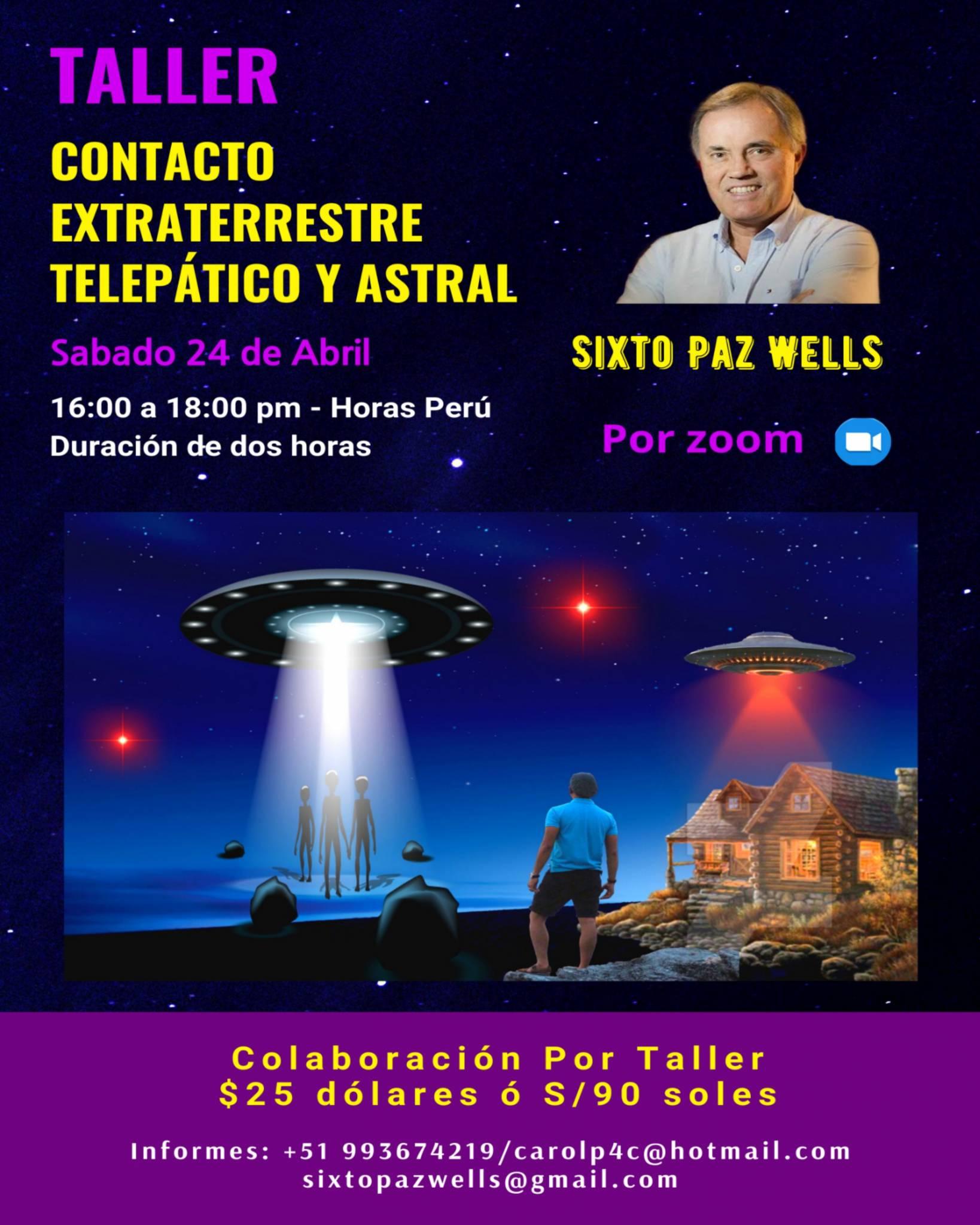 TALLER «CONTACTO EXTRATERRESTRE TELEPÁTICO Y ASTRAL»