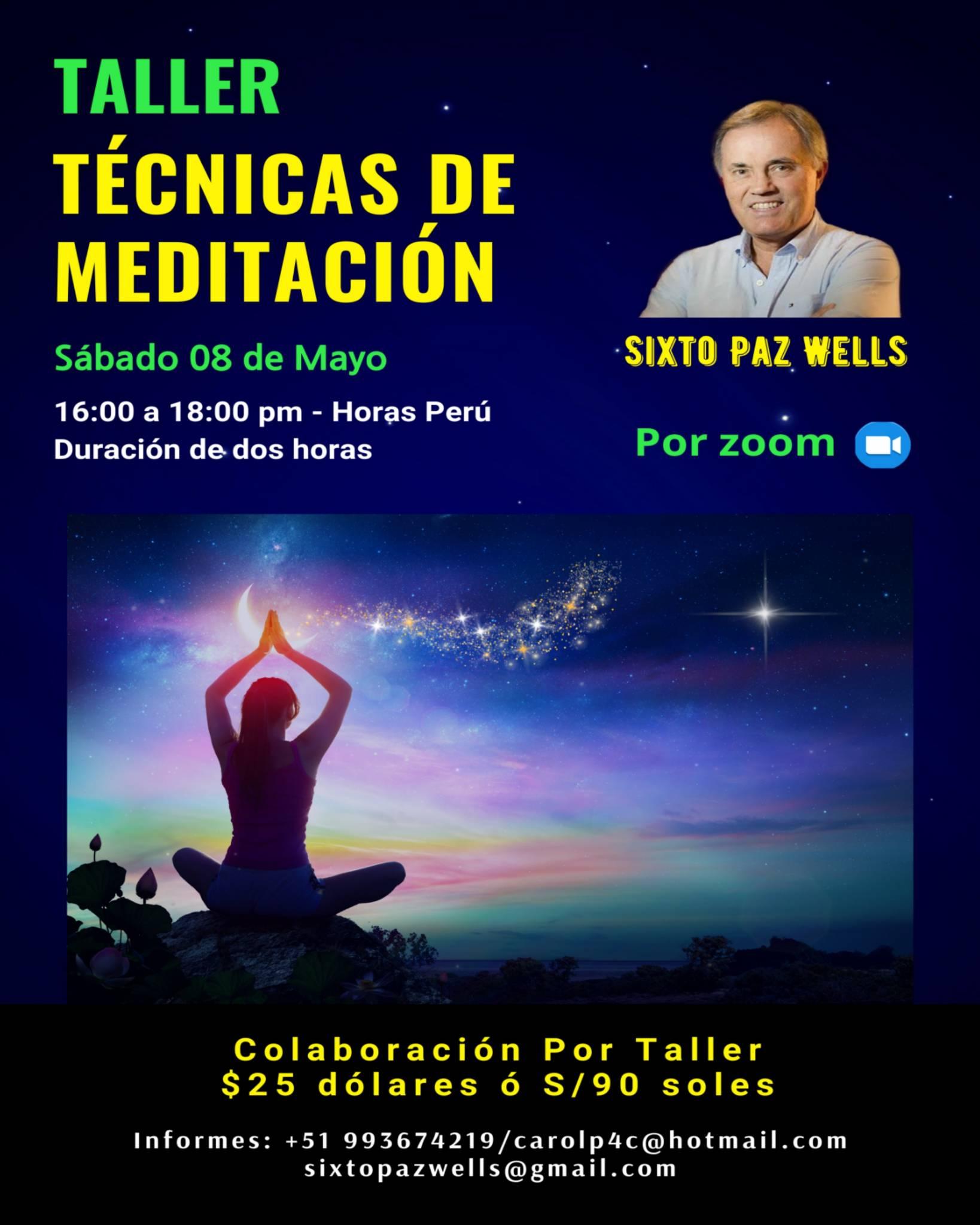 TALLER TÉCNICAS DE MEDITACIÓN