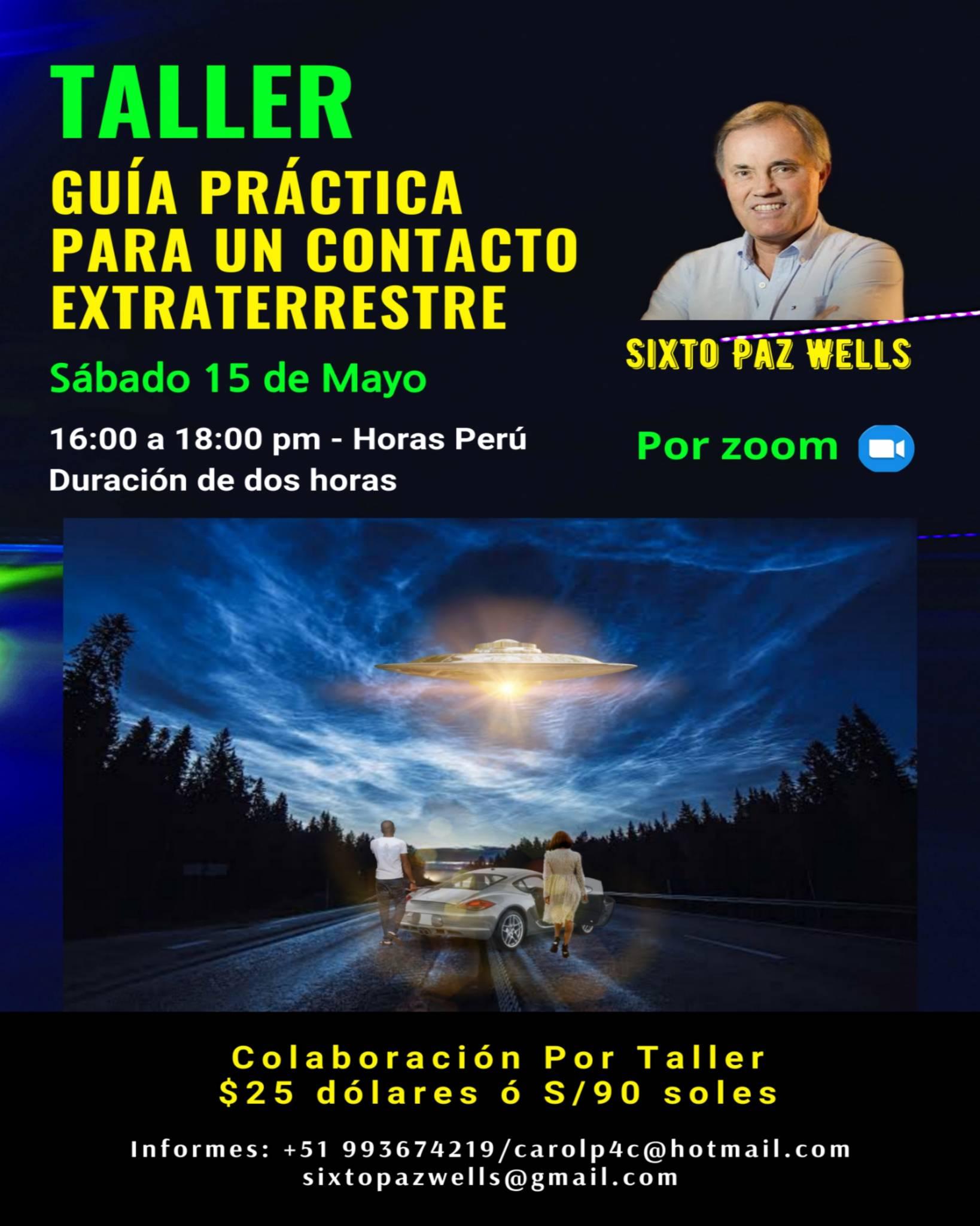 TALLER GUÍA PRÁCTICA PARA UN CONTACTO EXTRATERRESTRE