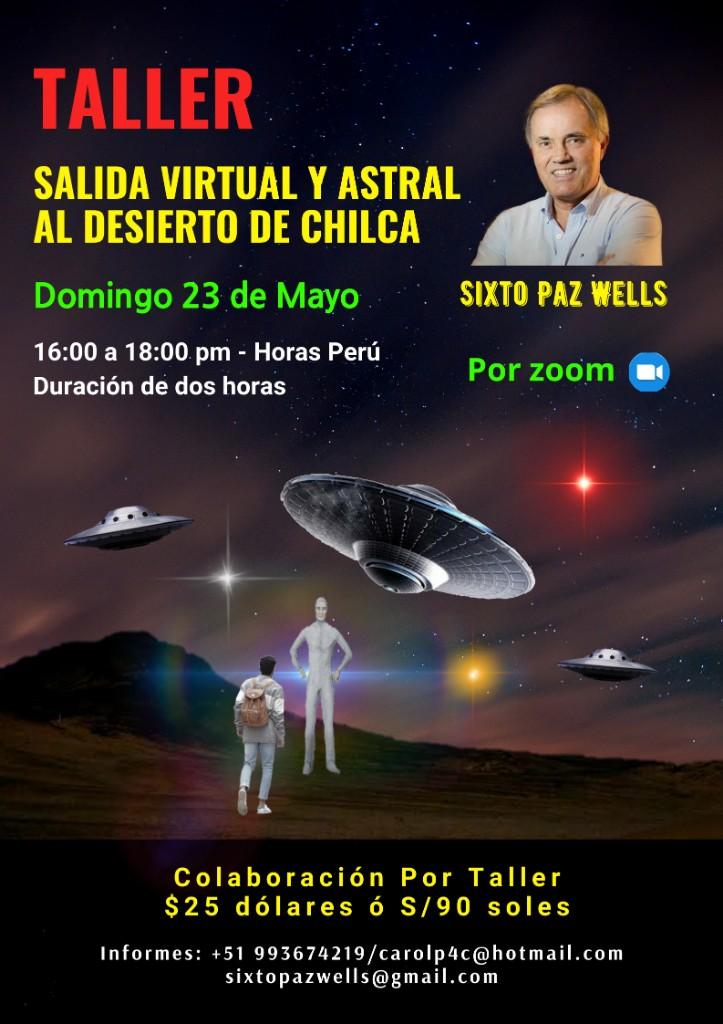 TALLER «SALIDA VIRTUAL Y ASTRAL AL DESIERTO DE CHILCA»